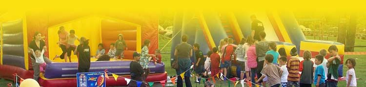 Our bouncy castles are great for events!