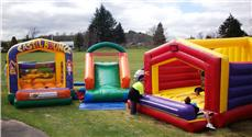 Supa slide, bounce house and castle bouncer